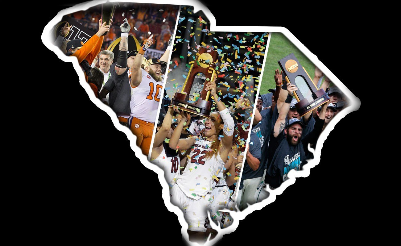 Clemson, South Carolina and Coastal Carolina all earned national titles (Source: Associated Press)