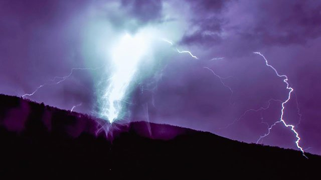 Lightning during severe storms (Source: iWitness)