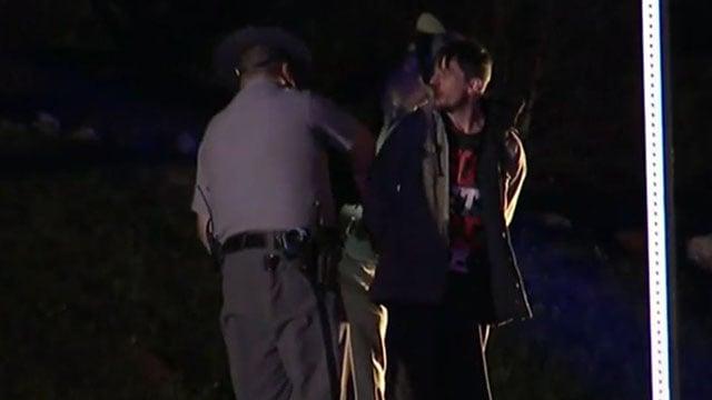 Blackstock taken into custody after crash. (Apr. 7, 2017/FOX Carolina)
