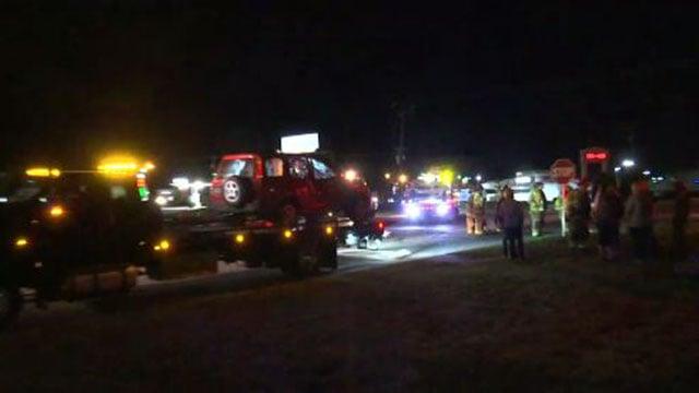 Scene of crash near Powdersville Walmart. (FOX Carolina/ 4/7/17)