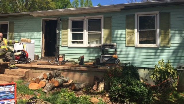 Scene of Oconee County house fire (Source: Oconee County Fire Department)