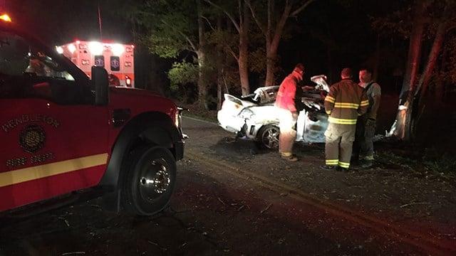 Scene of fatal collision on Old Anderson Road. (April 9, 2017 FOX Carolina)