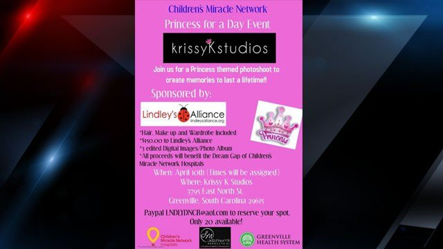 Flyer for Princess for a Day event (Courtesy: Lindley Mayer)