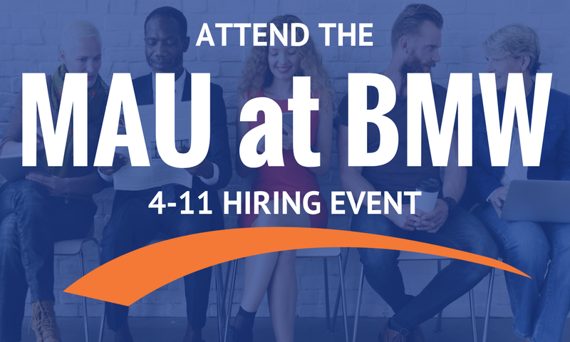Mau Holding Job Fair Tuesday To Fill Entry Level Bmw
