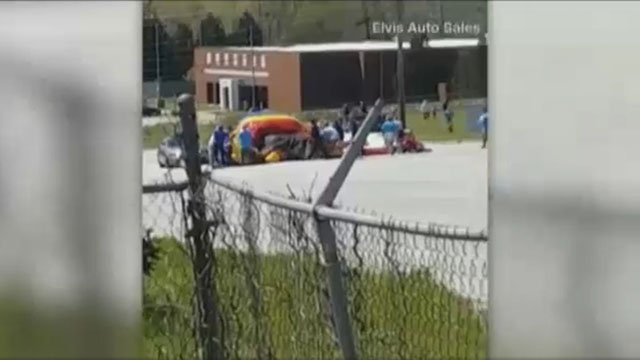 Church inflatables after accident (Source: Elvis Auto Sales)