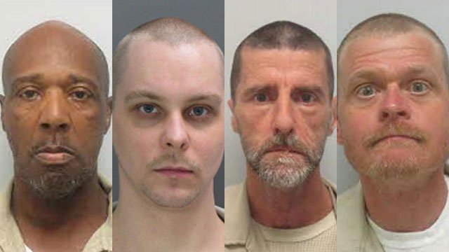 Left to right: Jimmy Ham, Jason Kelley, John King and William Scruggs (Source: SCDOC)
