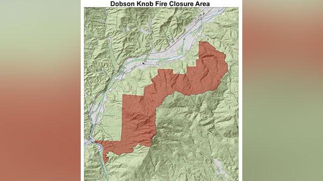 Dobson Knob Fire Closure Area (Source: U.S. Forest Service)