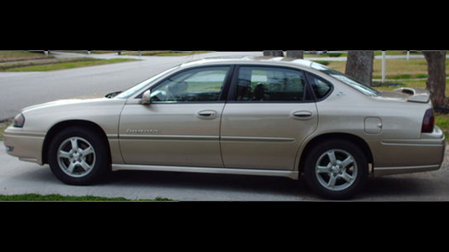 The Greer PD says this Chevrolet Impala is similar to that of the one the subject appeared in. (Source: GPD)