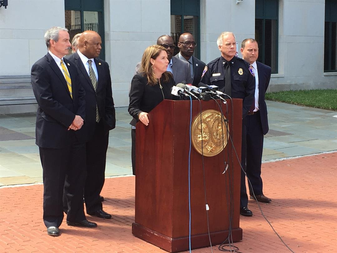 Solicitor Scarlett Wilson addresses the media after Monday's guilty plea