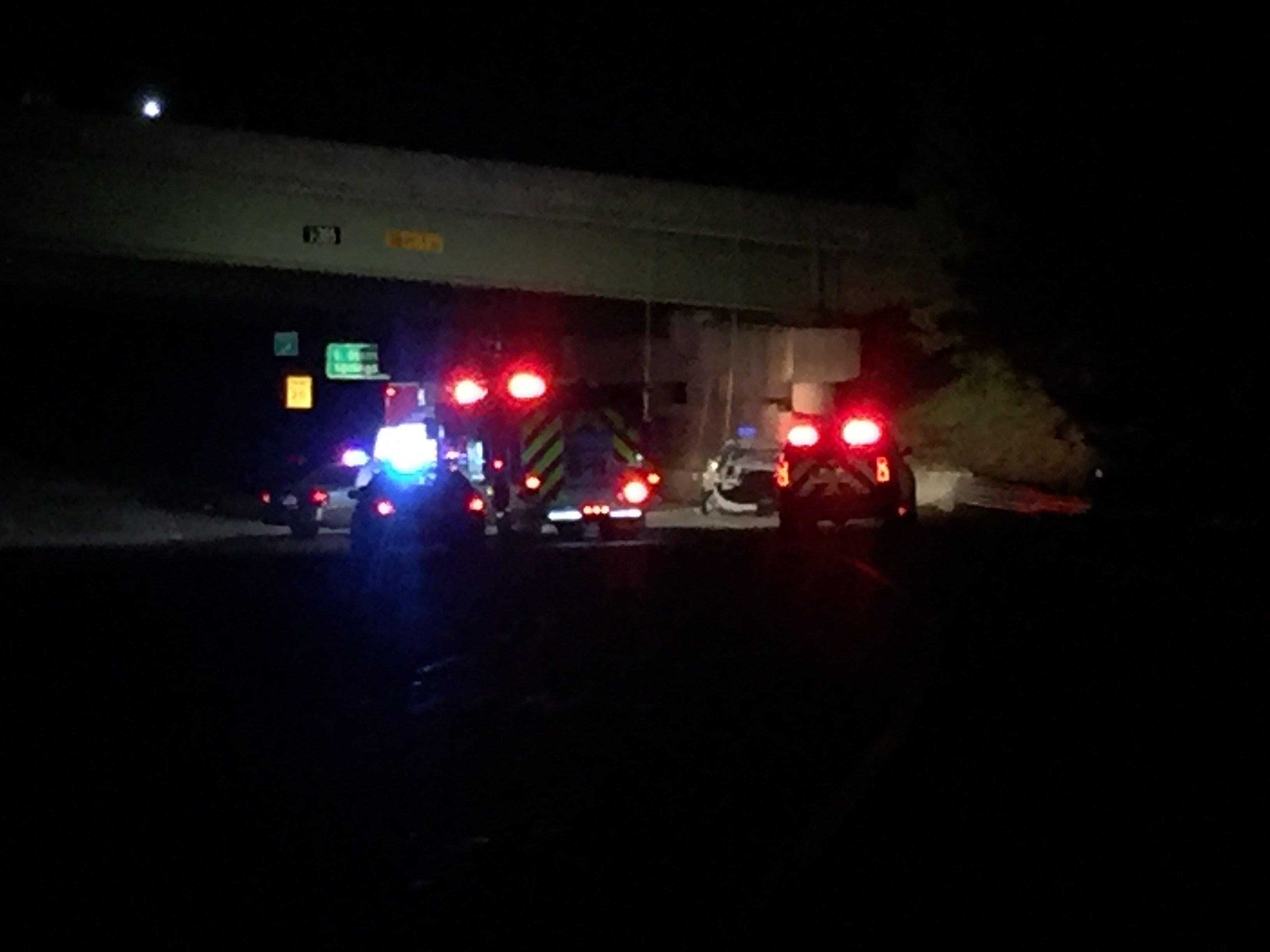 Crash investigation on I-385 (April 11, 2017/FOX Carolina)