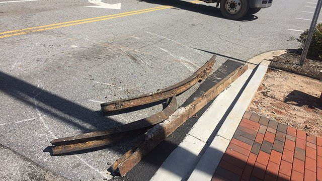 Trolley lines discovered in downtown Spartanburg (Source: Spartanburg Water)