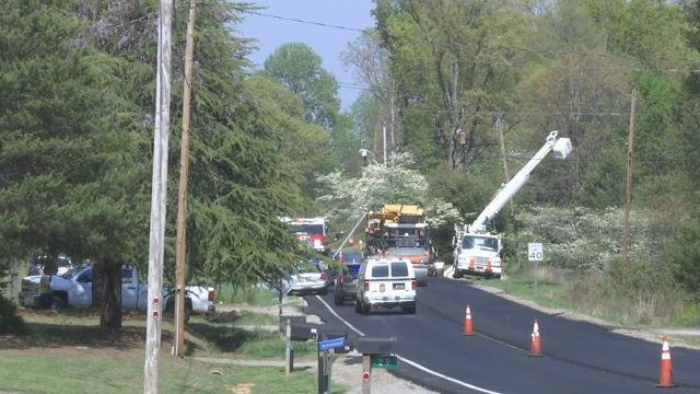 Crews on scene of death investigation and outage accident. (Apr. 11, 2017/FOX Carolina)