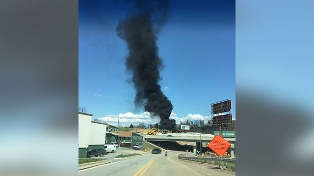 Fire at Asheville recycling center (Source: Jessica McMahon)