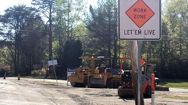 Scene of deadly work accident near State Park Road. (Apr. 11, 2017/FOX Carolina)