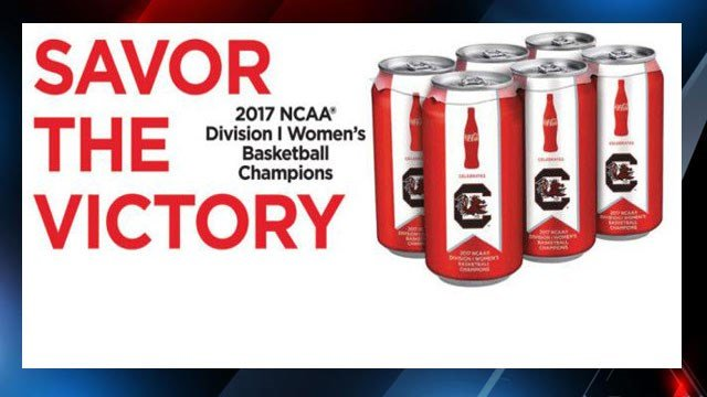 Coca-Cola commemorative cans (Source: GamecockWBB)