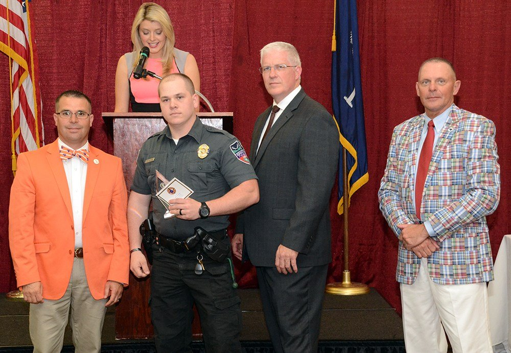 Officer Tyler Bishop is recognized (Source: SC DPS)