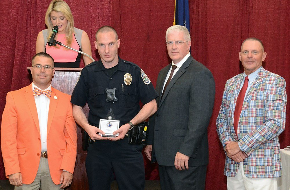 Officer Bryan Snow is recognized (Source: SC DPS)