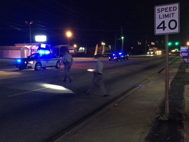 Scene of reported collision on Poinsett Hwy. (April 11, 2017 FOX Carolina)