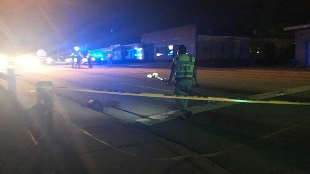 Scene of collision involving motorcycle on Union Street. (April 12, 2017 FOX Carolina)