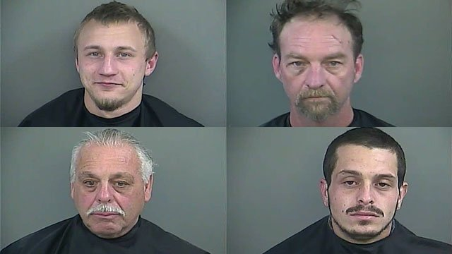 Top left to bottom right: Garner, Jones, Mahaffey and Meniouich (Source: Anderson Co. Detention)