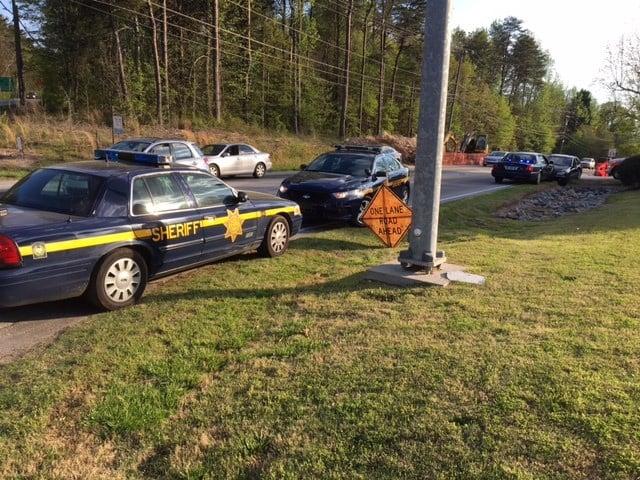 Large law enforcement scene on State Park Road (Apr. 12, 2017/FOX Carolina)