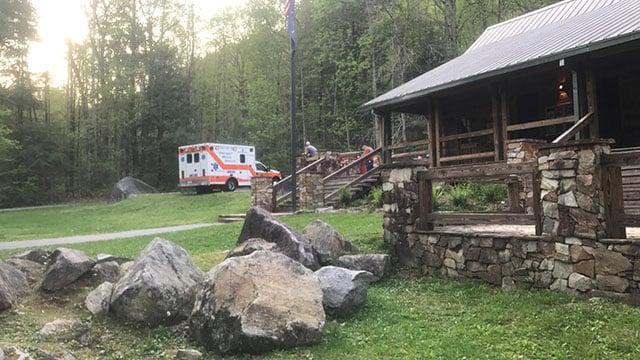 Scene of hiker rescue (FOX Carolina/ 4/15/17)