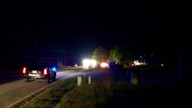 Scene of Lyman house fire (FOX Carolina/ 4/16/17)