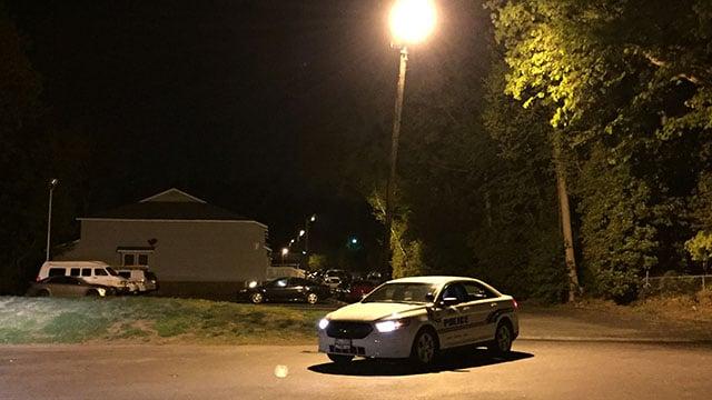 Scene of incident at Lakeside Place Apartments off Villa Road. (FOX Carolina/ 4/17/17)