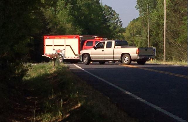 First responders block Hwy 101 near the crash site (FOX Carolina/ April 17, 2017)