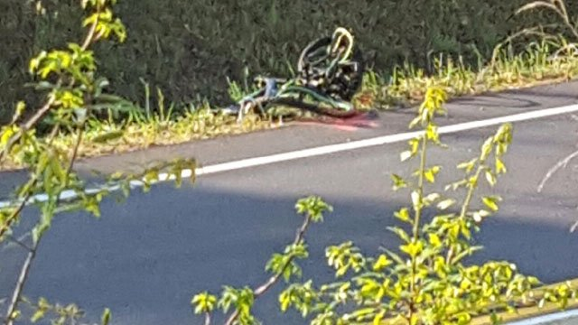 Viewer photo of the damaged bike (Viewer photo)