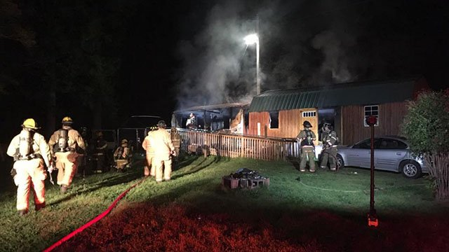 Crews battle fire at scene (Source: Townville Volunteer Fire)