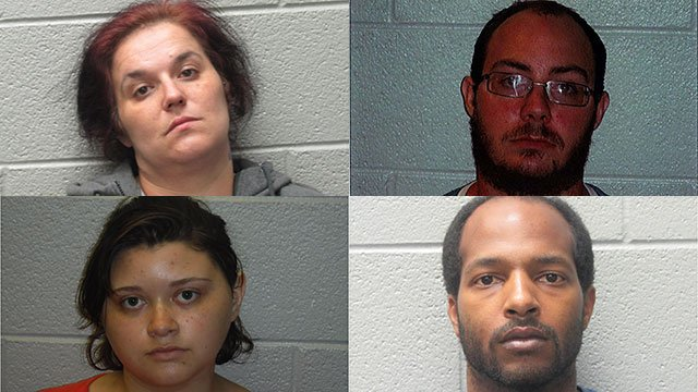 Top left to bottom right: Sarah Davidson, Nathan Turner, Chase Washington and Stacy Warn (Source: HCSO)