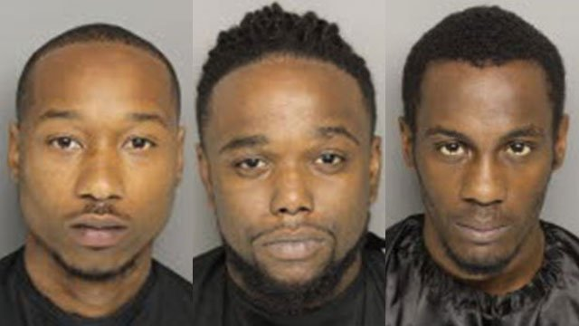 Left to right: Marcus Foster, Anthony Mays and Shyheem Rice (Source: Greenville Co. Detention)