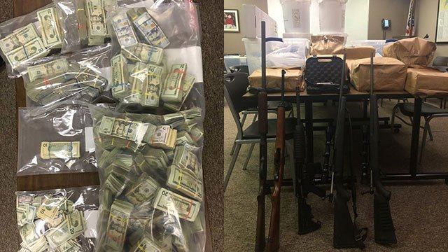 "Items seized in ""massive"" drug bust (Source: MCSO)"