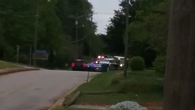 Police on scene of shooting investigation (Source: Nick Carver)