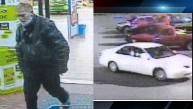 Surveillance images of the suspect and the vehicle he was seen in (Courtesy: APD)