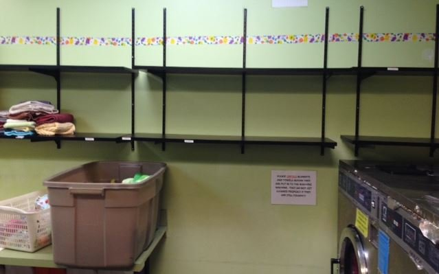 Empty towel racks at Greenville Humane Society (Courtesy: Kim Pittman)