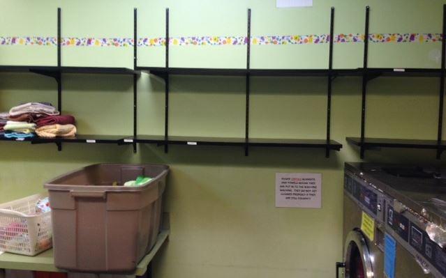 Empty towel racks at Greenville Humane Society (Courtesy: Kim Pittman)