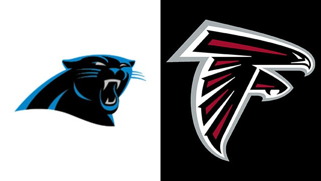 Panthers logo (left), Falcons logo (right) (Source: Wikipedia)