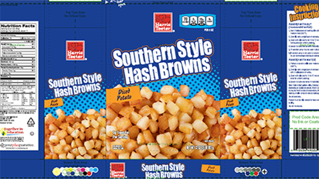 Roundy's Brand Frozen Southern Style Hash Browns. (Source: FDA)