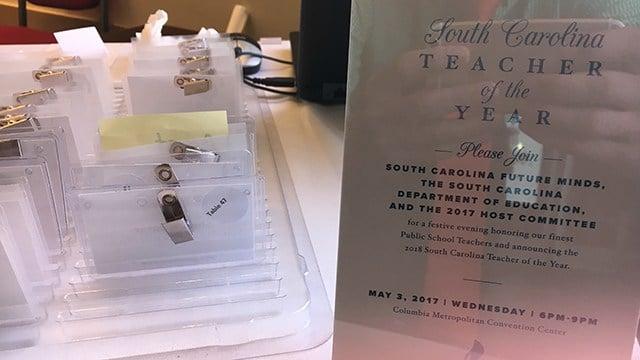 SC Teacher of the Year Award Ceremony (FOX Carolina/ 5/3/17)
