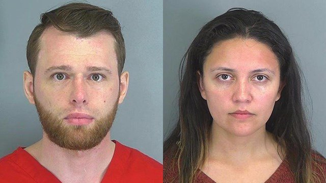 Theodore Vitaliy Khleborod and Ana Milena Barrero (Source: SPartanburg Co. Detention)