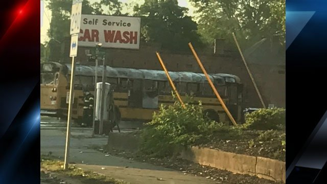 Photo of the school bus (Courtesy: Heather Warren)