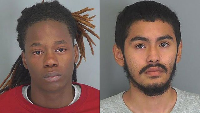 Travis Jones Jr. (left) and Marcos Hidalgo Orduna (Source: Spartanburg Co. Detention)
