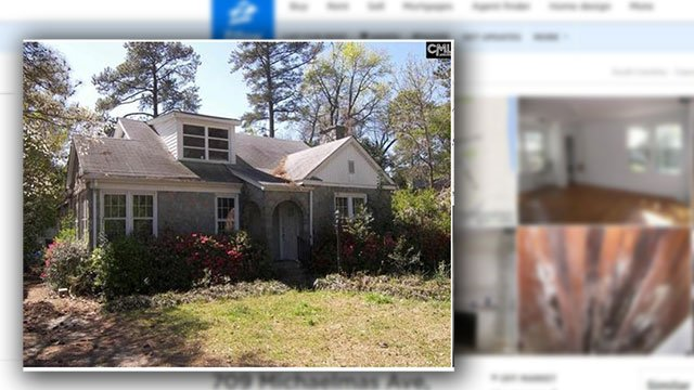 """""""Nightmare house"""" originally for sale in Cayce, SC (Source: Zillow)"""