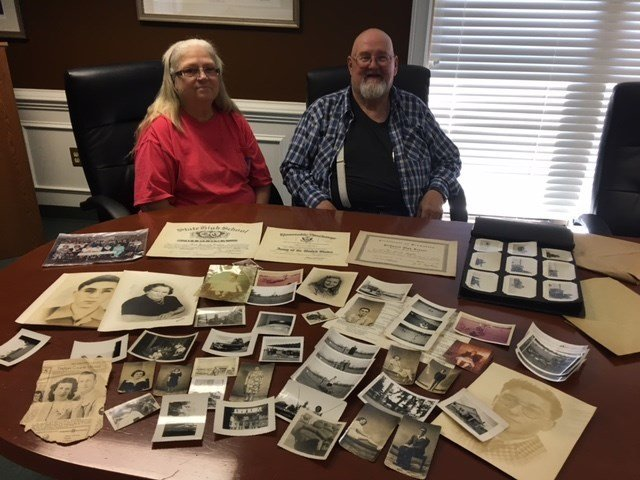 Harry and Denise Shockley live in Greenville and came across a folder of photos and important documents for a Jack K. Hughey believed to have resided in Piedmont SC. (May 16, 2017/FOX Carolina)