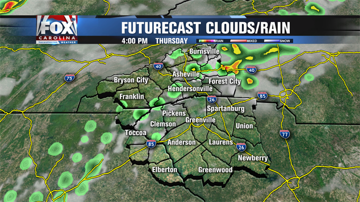 Scattered rain & storms to start the work week