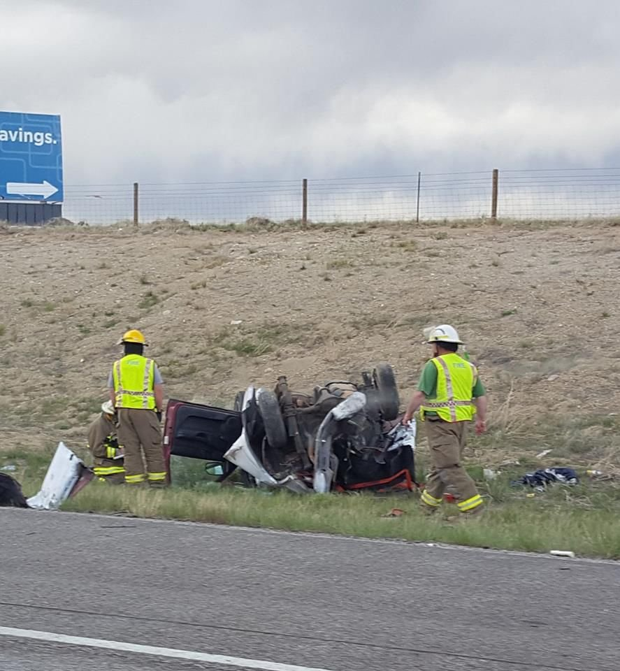 Wyoming fatal crash (Source: Rawlins Times/Nadine Gaskins)