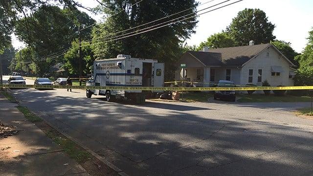 Scene of double homicide investigation in Forest City. (5/20/17 FOX Carolina)