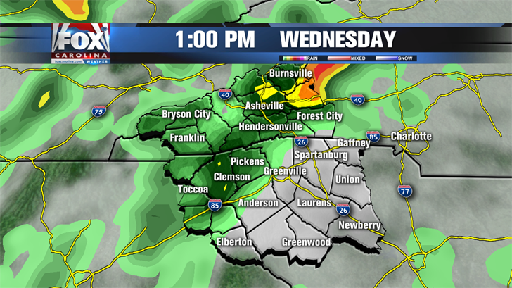 Off and on rain today, downpours/t-storms possible this evening
